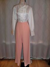 CLUCE FABRIK BLUSH SIDE PIPING DETAIL LINED 2DIE4 TROUSERS MEDIUM NWT UNIQUE
