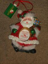 "Kurt Adler Santa Christmas Picture Frame Ornament 4 1/2"" Tall Nice"