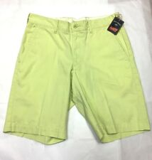 NEW Bills Khakis Parker Standard Fit Cotton Flat Front Preppy Shorts Lt Green 30