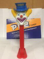 "Vintage 1970 Peter Pez Clown Red Stem w/ Feet Large 12.5"" Collectible Dispenser"