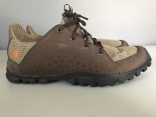 Adidas Brown Leather Mesh Lace Up Hiking Moccasin Shoes Mens Size 9.5