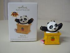 Hallmark Ornament 2011 BABY PO Kung Fu Panda 2 Black and White with Brown Box