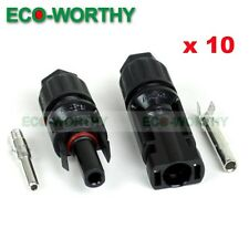 10 Pairs MC4 25A Solar Panel Connector Male Female Set  for PV Cable Wire