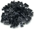Lego 50 New Black Plates Modified 1 x 2 with Clip Horizontal on Side Parts
