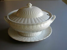 """Vtg 50s Solian Ware Simpsons Pottery 12""""½  Soup Tureen on Pedestal w Lid & Plate"""