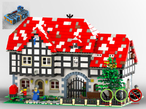 Silver Pot Inn - Custom MOC - PDF Building Instructions - Compatible with LEGO