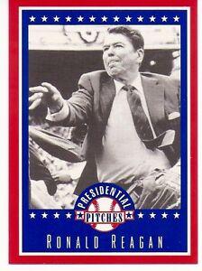 """""""RARE"""" RONALD REAGAN BASEBALL CARD #8! REPUBLICAN - PRESIDENTIAL PITCHES"""