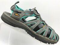 Keen Gray Teal Suede Slip On Waterproof Sport Hiking Sandals Shoes Womens 9.5