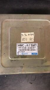 1995-1996 Hyundai Accent tcm transmission computer 95440-22637
