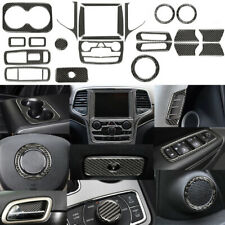 23pcs Carbon Fiber Full Interior Trim Direct  For Jeep Grand Cherokee 2014-2018