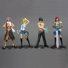 4pcs Fairy Tail SC Lucy Gray Erza Scarlet Etherious Natsu Dragnee Figurine