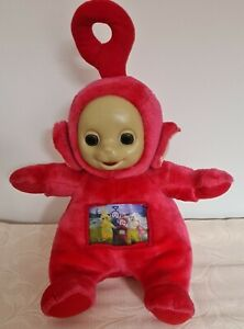 Vintage Teletubbies. Red Po. 30cm Plush with moving pictures in tummy. V.G.C.