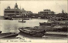 Port Said Būr Saʿīd Ägypten Egypt Postkarte AK ~1910 Suez Canal Sueskanal Docks