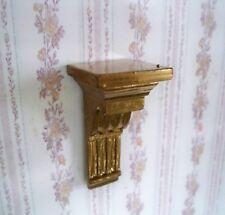 1:12 - Miniatur - dekorative STUCK WANDKONSOLE - gold - Handmade - Puppenhaus