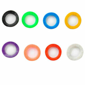8 Pcs Hollow Silicone Key Cap Covers Topper Keyring Key Case With Bly Braille