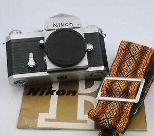 Nikon F Camera W/ New Genuine Leather Cover, Manual & Shoulder Strap