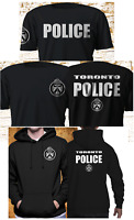 New TORONTO Police Service Department Fire Department Black T-shirt hoodie S-4XL