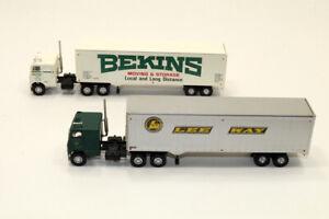 mb Lot 2 Athearn Trucks Freightliner COE w/40' Trailer  HO 1:87 BEKINS, LEE WAY