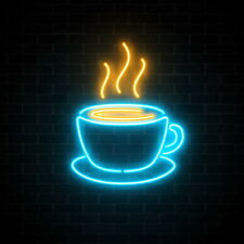 AOOS CUSTOM Coffee Dimmable LED Neon Light Signs For Wall Decor
