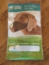 Guardian Gear Lined Nylon Dog Muzzle  Size 3  7-Inch Snout  Black