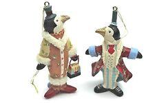Gisela Graham NATALE FANTASY CIRCO resina Pinguino COPPIA DECORAZIONE