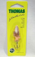 Thomas Fighting Fish 1/4 oz Copper Spinning Fishing Lure Spinner Spoons