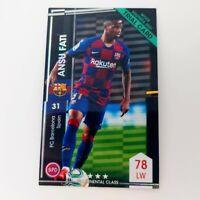 2021 Panini WCCF Ansu Fati refractor Card Footista FC Barcelona