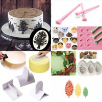 Silicone Cake Pine Chocolate Mold Ice Baking Mould Smoother Paddle Craft Tool