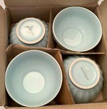 "Set Of 4 - Vintage Martha Stewart Cafe au Lait Bowls 5.5"" Blue - Very Rare Htf"