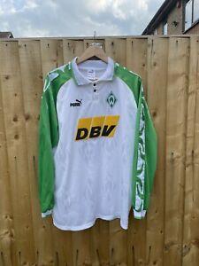 SV Werder Bremen Home Football Shirt 1995-1996 Puma L/S Long Sleeve XL