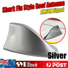For Nissan Pathfinder X-Trail Qashqai Shark Fin Silver Auto Roof AM/FM Antennas