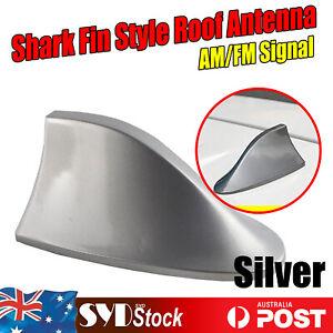 For Nissan Pathfinder X-Trail Qashqai Shark Fin Silver Auto Roof AM/FM Antennas