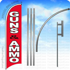 Guns Ammo - Windless Swooper Flag 15' Kit Feather Banner Sign - rb