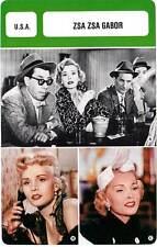 FICHE CINEMA :  ZSA ZSA GABOR -  USA (Biographie/Filmographie)
