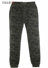 Green camouflage sweatpants in plush cotton plus size man over. Big and tall.