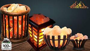 Himalayan Pink Salt Lamp Natural Rock Salt Basket Lamp Ioniser Different Size