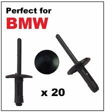 20 X 6 mm BMW ciego remaches Pop Plástico para pasos de rueda Lateral Faldas Alféizares Parachoques