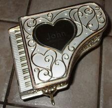 Things Remembered Sankyo Jeweled Grand Piano Music Box Fur Elise - Engraved John