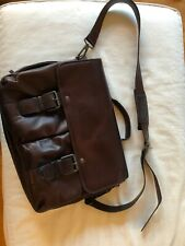 Kenneth Cole Men's Leather Messenger Bag - Brown (Great Condition!)