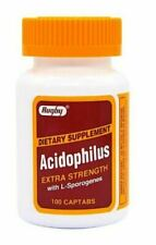 Rugby Acidophilus Extra Strength Dietary Supplement - 100 Captabs each