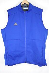 NWOT ADIDAS Mens sz 4XLT Tall Blue Clima Proof Vest Thin Wind Breaker Golf Shirt