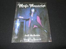 Rare Magic Magazine, Magic Manuscript, Jeff McBride