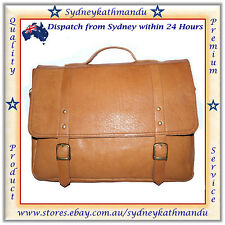 Men's Handmade Genuine Leather Messenger Laptop Bag Best Briefcase for Mens/Boys