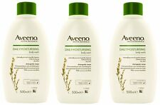 3 x Aveeno Daily Moisturising Body Wash 500ml for dry sensitive skin