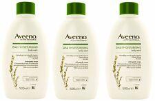 3 x Aveeno Täglich Feuchtigkeits DUSCHGEL 500ml für trockene empfindliche Haut