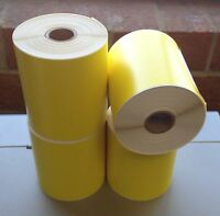Yellow 4x6 Direct Thermal Labels 250 /Roll Zebra 2844 ZP 450 ZP500 ZP 505 Eltron