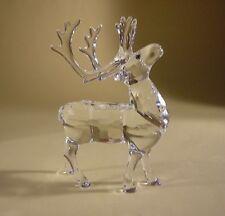 SWAROVSKI Silver Crystal Reindeer 214821 Comme neuf en boîte Mirror à la retraite rare