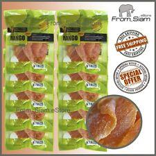 PROMOTION Dried MANGO Slices Thai Delicious Snack Fruit 100g (3.53oz) x 10 packs