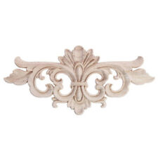 Wood Carved Unpainted Corner Applique Frame Decal Home Furniture Decor Craft DIY