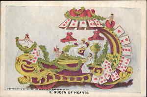 POP P.O.P. Amusement Co Parade Float c1910 Postcard  QUEEN OF HEARTS